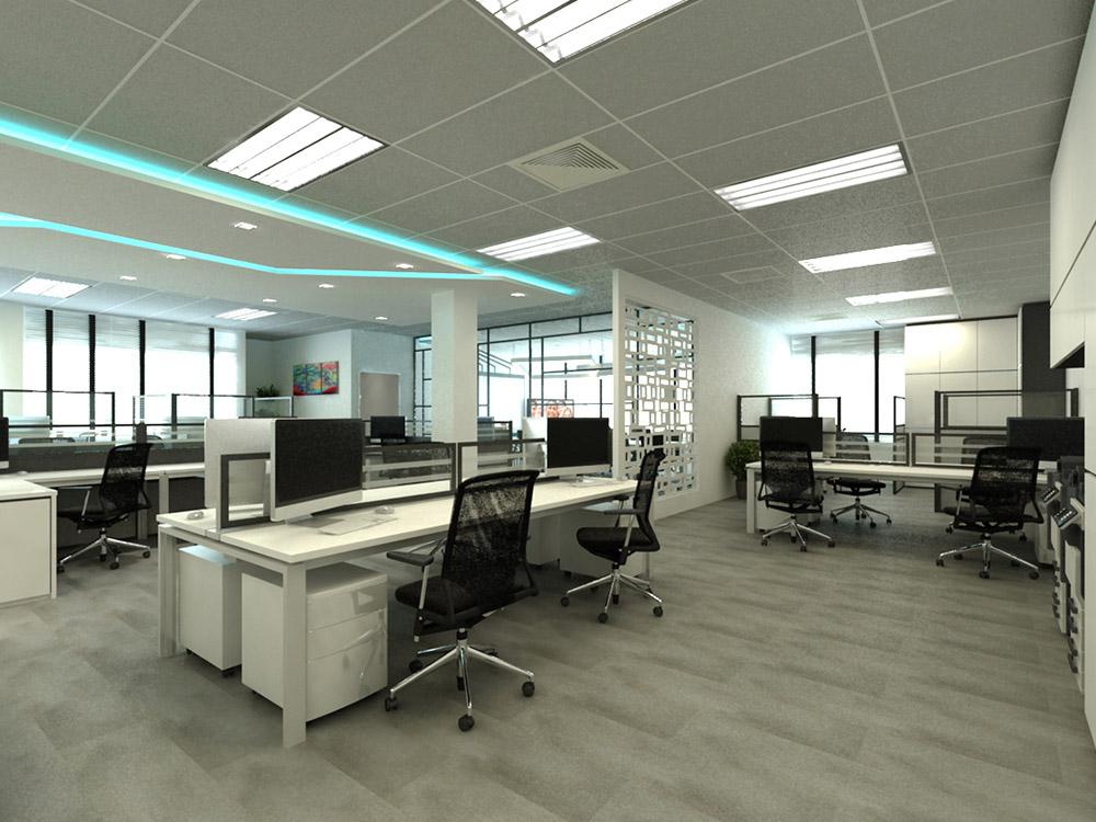 Comfortable Commercial Office Interior Design Singapore